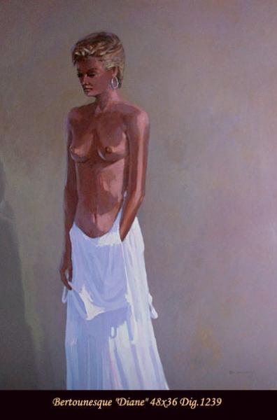 André Bertounesque - Nu - Nude figure