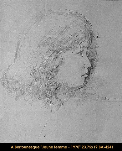 André Bertounesque - dessin - portrait - drawing -portrait - enfant - child