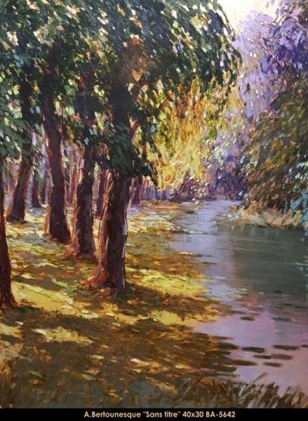 André Bertounesque - Provence - Paysage -