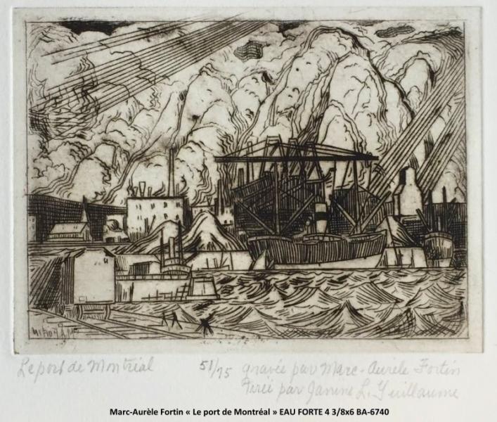Marc-Aurèle Fortin - Eau Forte - Scène de piort scene
