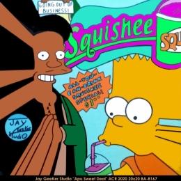 Jay GeeKer Studio - Pop Art - simpsons - apu - bart - squishee