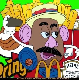 Jay GeeKer Studio - Pop Art - Potato head
