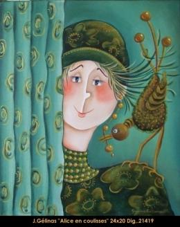 Jeanne Gélinas - personnage - human figure - naif - folk art