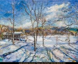 Lynda Schneider Granatstein - paysage hiver - winter scene