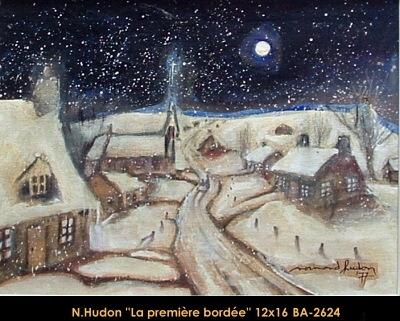 Normand Hudon - scene hiver - winter scene