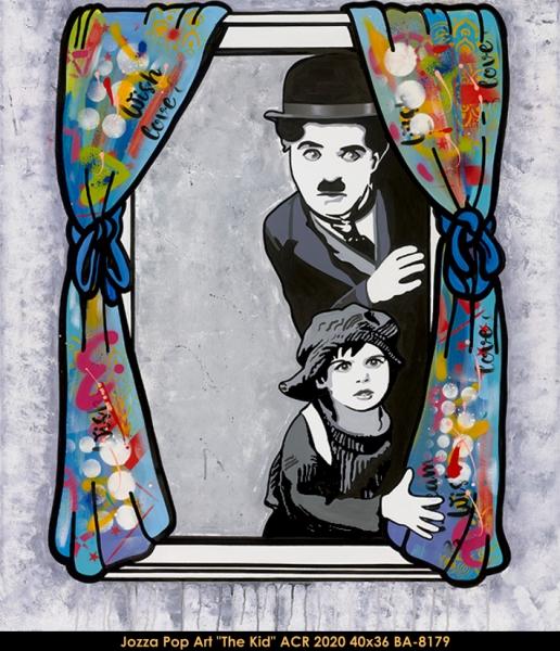 Jozza Pop Art - Chaplin - the Kid - Coogan
