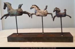 Ursula K.Lampron - cheval - horse - raku