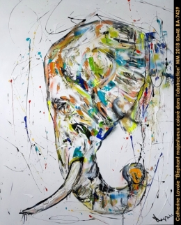 Catherine Lavoie - Abstraction - elephant