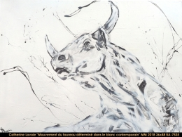 Catherine Lavoie - Abstraction - taureau - bull