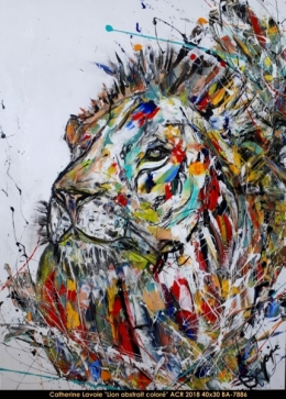 Catherine Lavoie - Abstraction - Lion