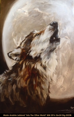 Marie-Andrée Leblond - loup - wolf