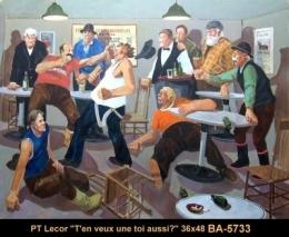 Paul Tex Lecor - personnage - human figure - scene de taverne - bar scene