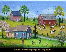 Sharon Mark - Folk Art - Art Naif