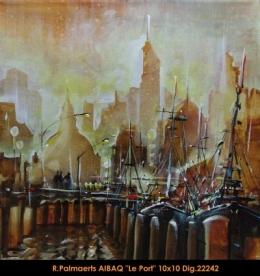 Roland Palmaerts - cityscape - scene de ville - port