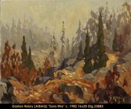 Gaston Rebry - Paysage de la Mauricie - Mauricie Landscape