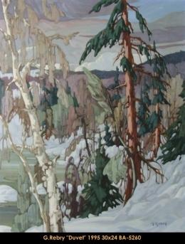 Gaston Rebry - Paysage de la Mauricie - Mauricie Landscape - Hiver - Winter