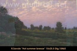 Richard Savoie - paysage - landscape - Hiver - Winter - pastel