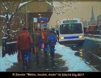 Richard Savoie - Montreal - Hiver - Winter - pastel
