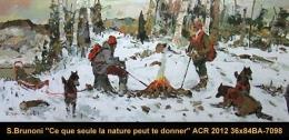SERGE BRUNONI - SCENE DE CHASSE - HUNTING SCENE