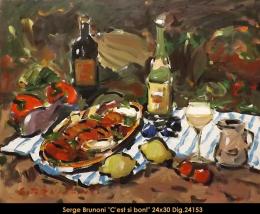 SERGE BRUNONI - NATURE MORTE - STILL LIFE