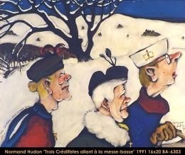 Normand Hudon - scene hiver - winter scene - creditistes