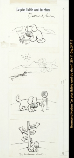Normand Hudon - dessin - drwaing - chien - dog