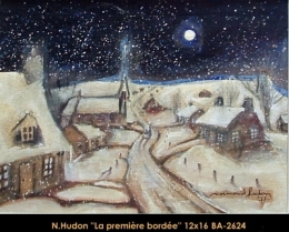 Normand Hudon - scene hiver - winter scene
