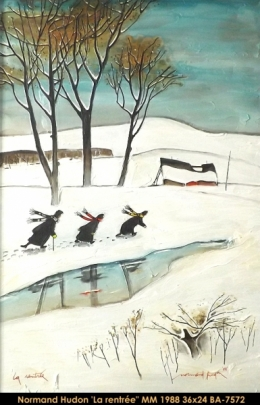 Normand hudon - people - winter - personnages - hiver