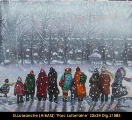 Gilles Labranche - scene d'hiver - winter scene