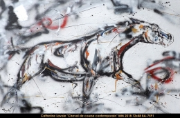Catherine Lavoie - Abstraction - cheval - horse
