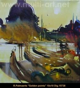 Roland Palmaerts - cityscape - scene de ville - venise - venice - gondoles - gondlas