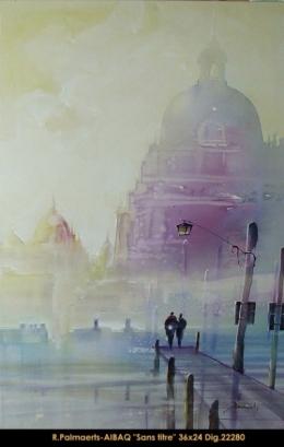 Roland Palmaerts - cityscape - scene de ville -collage