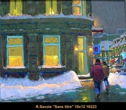 Richard Savoie - paysage urbain - cityscape - PASTEL
